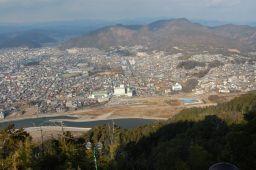 岐阜城から北岸長良川を見た写真