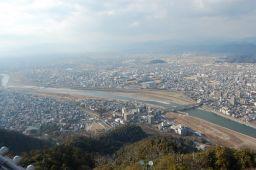 岐阜城の西側の写真