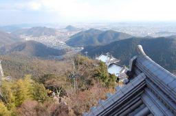 岐阜城天守閣から東を見た写真