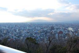 金華山ドライブウェイ展望台から岐阜市内を見た写真