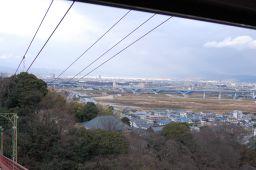 石清水八幡宮のケーブルカーから見た京都方面の写真